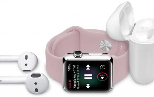 Apple Watch met AirPods: muziek luisteren