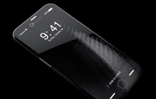 iPhone 8-concept van de voorkant.