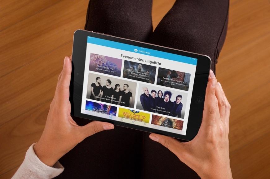 TicketSwap voor de iPad.