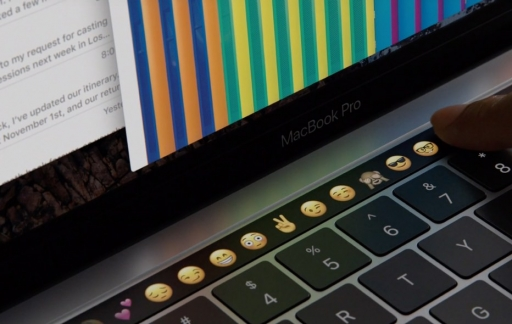 Touch Bar met emoji