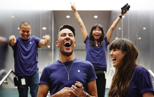 Apple Store blij personeel