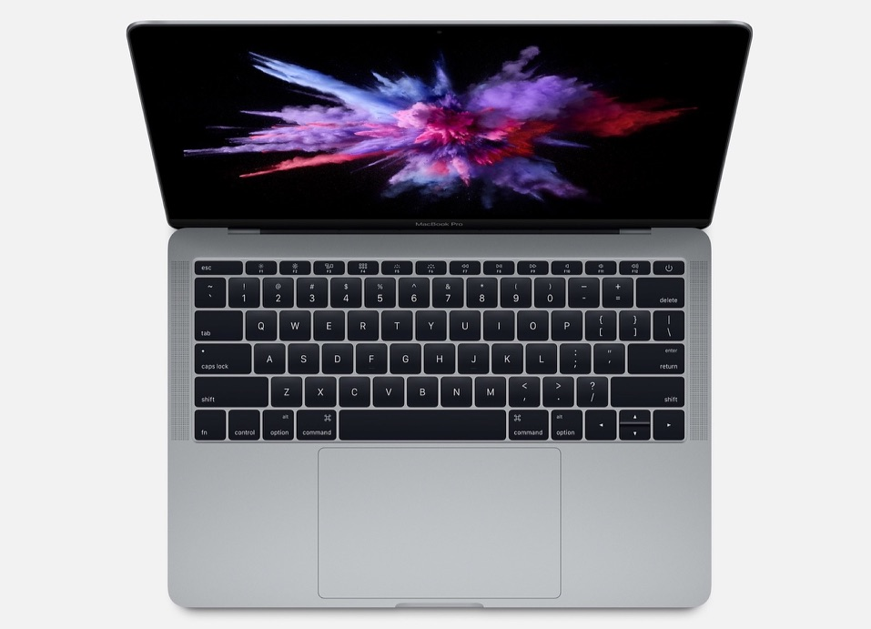 13-inch MacBook Pro zonder Touch Bar open.