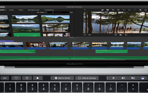 iMovie met Touch Bar op MacBook Pro