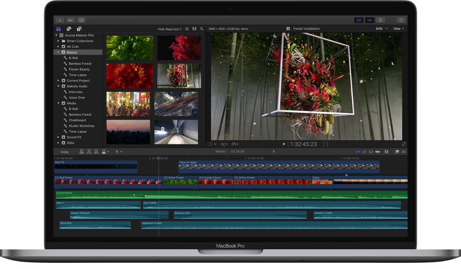 Nieuwe interface in Final Cut Pro 10.3