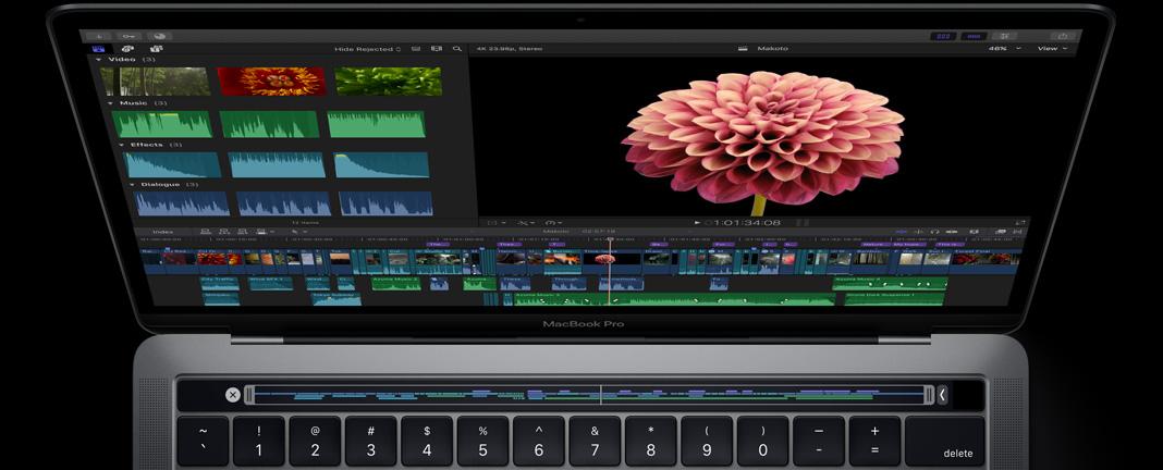 Final Cut Pro met Touch Bar-ondersteuning