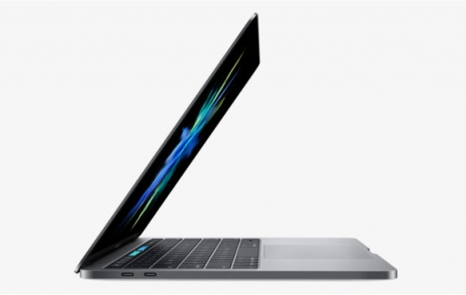 MacBook Pro half dichtgeklapt