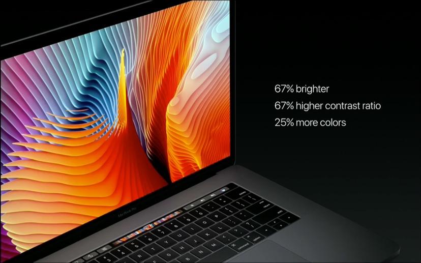 Scherm van nieuwe MacBook Pro.