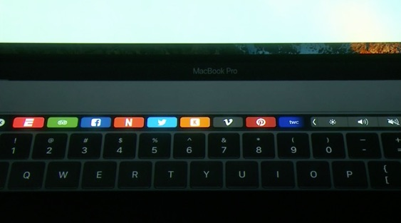 MacBook Pro met Touch Bar in Safari.
