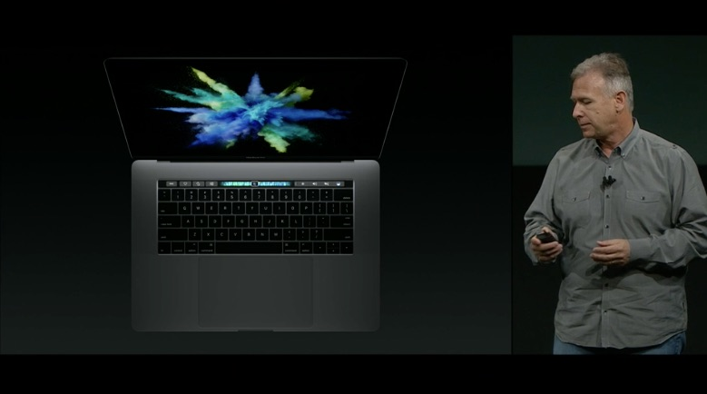 MacBook Pro met touchbar.