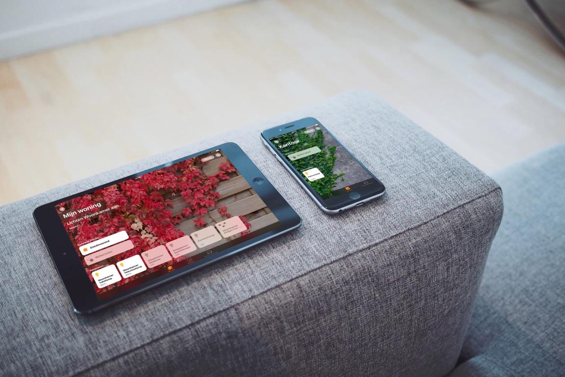 Woning-app voor HomeKit op de iPhone en iPad.