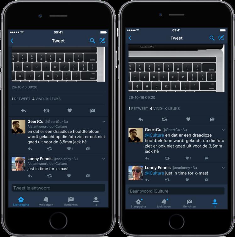 Twitter laat nu geen vermeldingen meer zien in iOS-app.