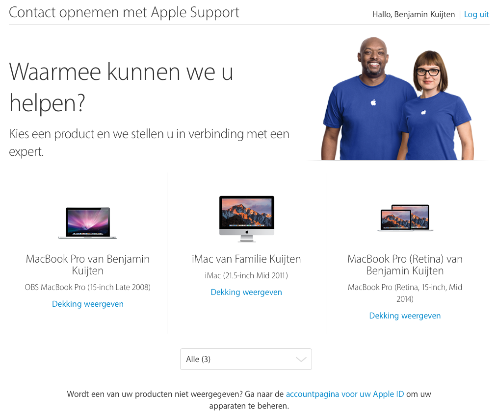 Apple Support-pagina is vernieuwd.