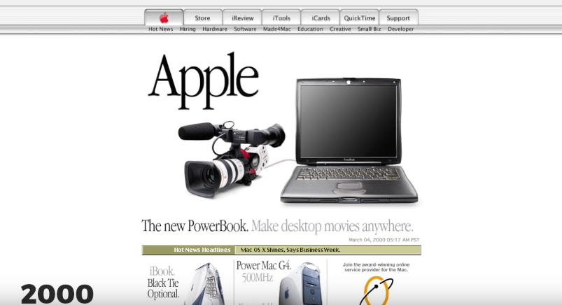Powerbook op Apple.com.