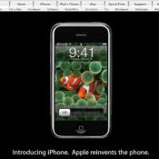 iPhone geïntroduceerd op Apple-website.