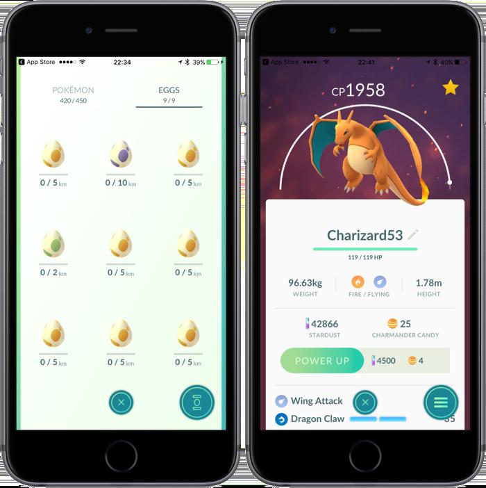 Pokemon Go update: eieren met patroon en icoontjes bij Pokémon