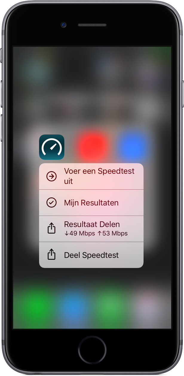 Speedtest heeft 3D Touch.