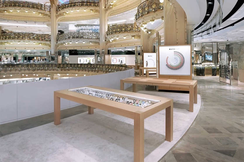 Galaries Lafayette Apple Watch-winkel.