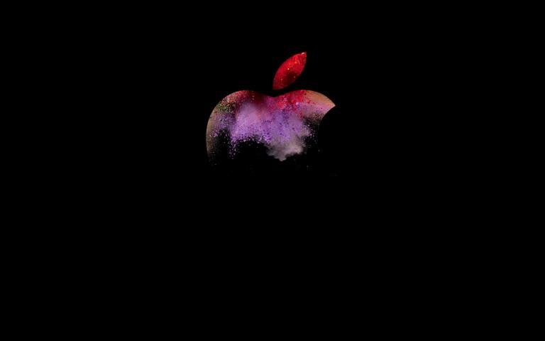 Wallpaper van Mac-event met andere kleuren.