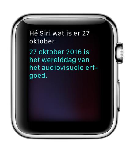 Siri kent de Werelddag van het Audiovisuele Erfgoed.