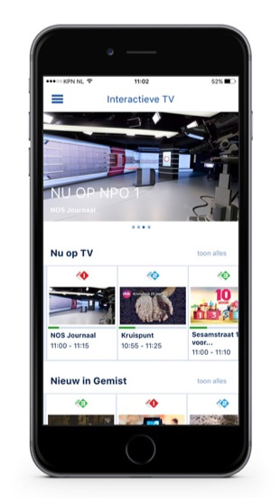 KPN Interactieve TV met nieuw startscherm.