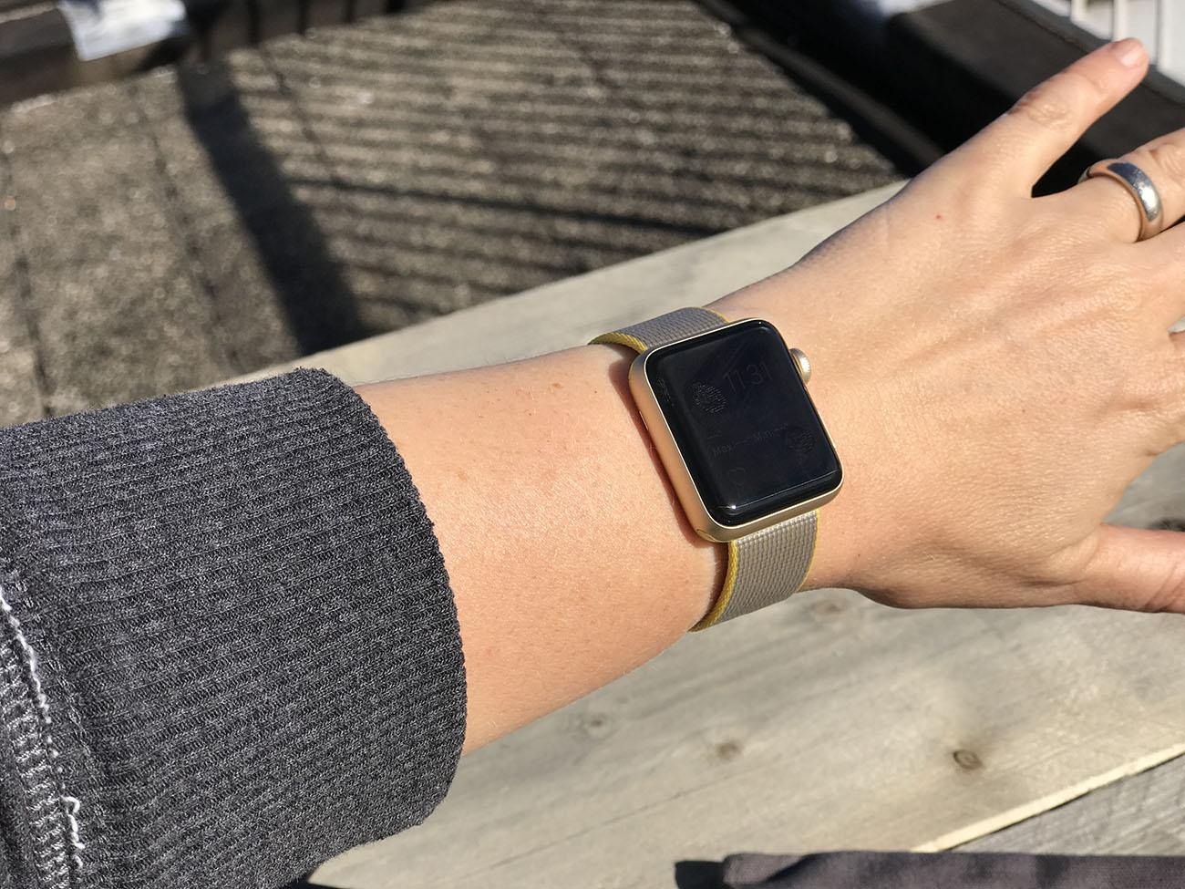 Apple Watch: toch lastig af te lezen in de zon