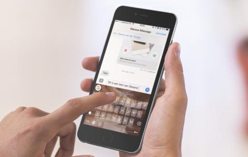 Gboard-toetsenbord voor de iPhone.