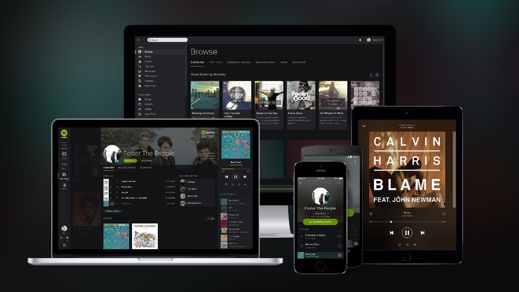Spotify-apps voor computers en mobiel.