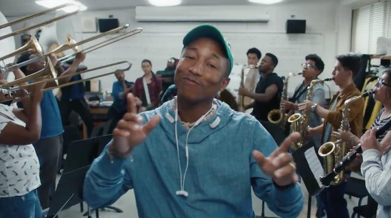 Beats-reclame met Pharrell.