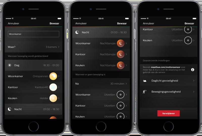 Hue Motion Sensor: de app-instellingen