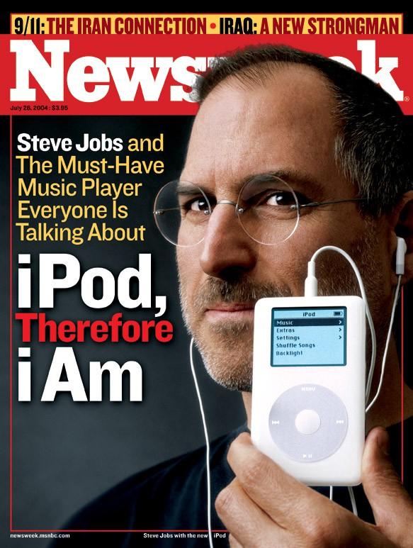 Jobs op cover van Newsweek