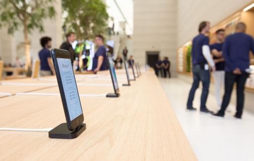 Apple Store: iPhones niet langer met antidiefstalkabel