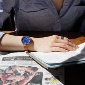 Skagen Hagen smartwatch met vrouw