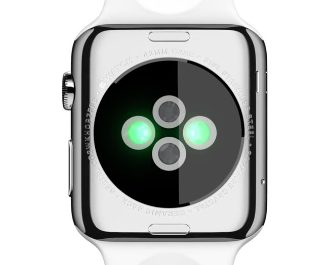 Apple Watch hartslagsensor