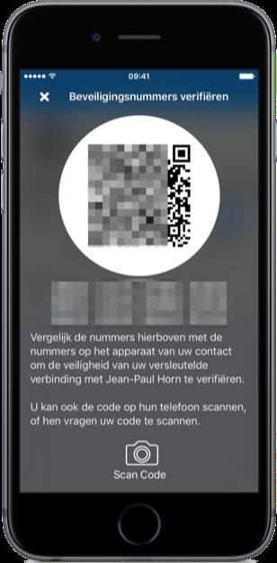 Code scannen in Signal.