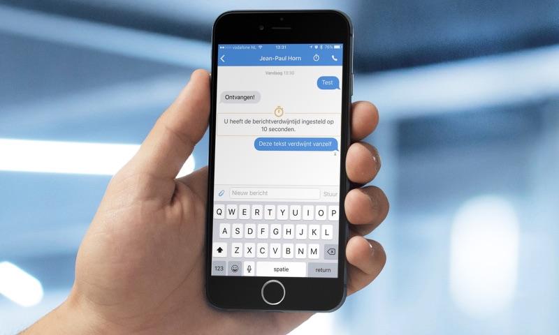 Signal-app op iOS.