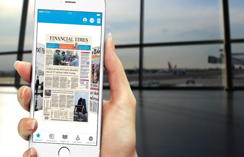 KLM Media-app voor iPhone
