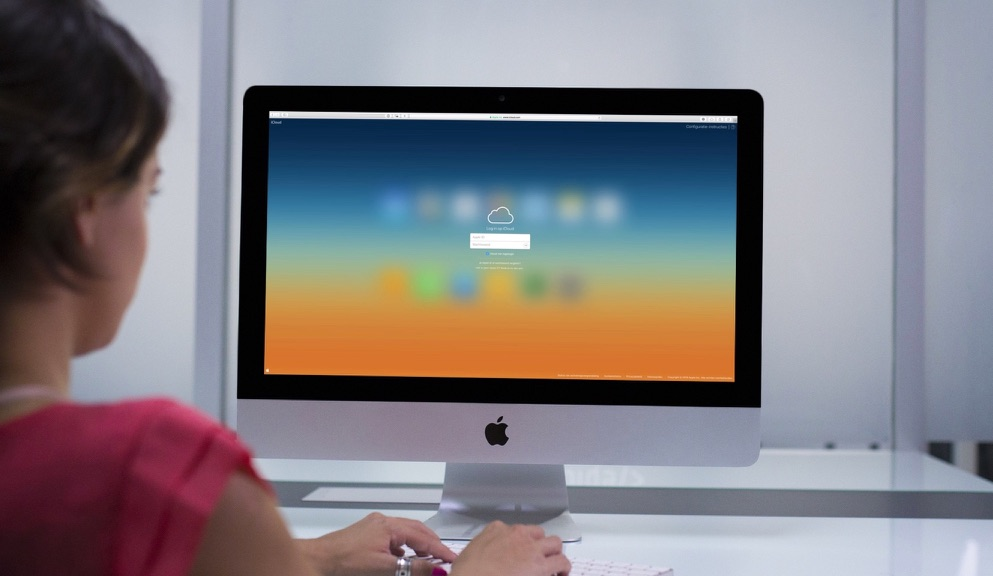 De inlogpagina van iCloud.