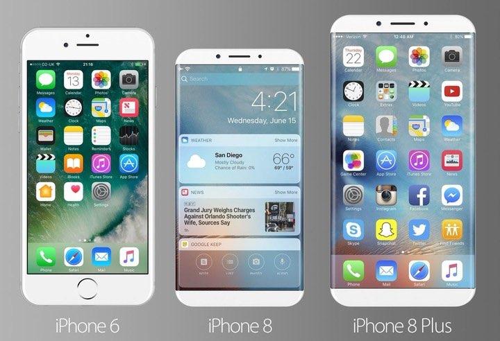 iPhone 8 concept: vergelijking met iPhone 6-serie