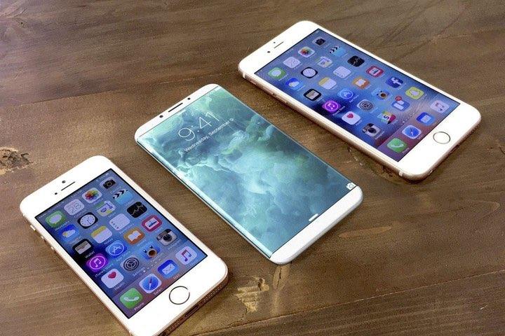 iPhone 8 concept: toestellen op een rijtje