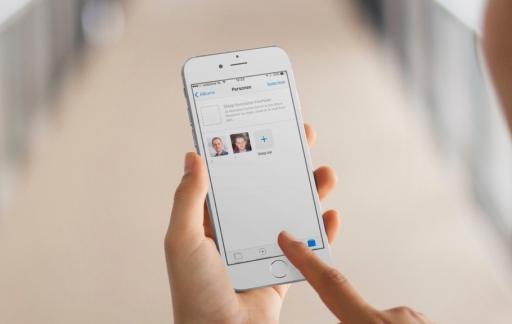 Foto's-app met Personen in iOS 10.