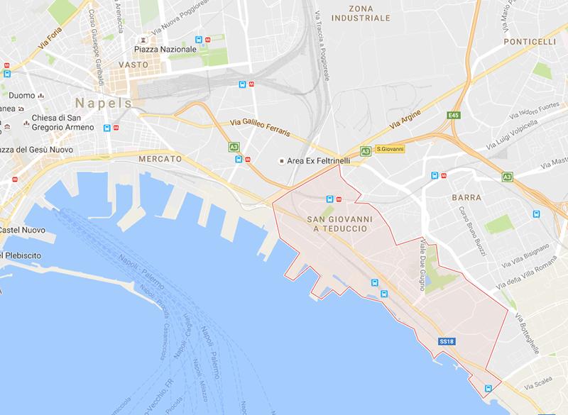 Napels: Giovanni a Teduccio is een buitenwijk ten zuiden van Napels