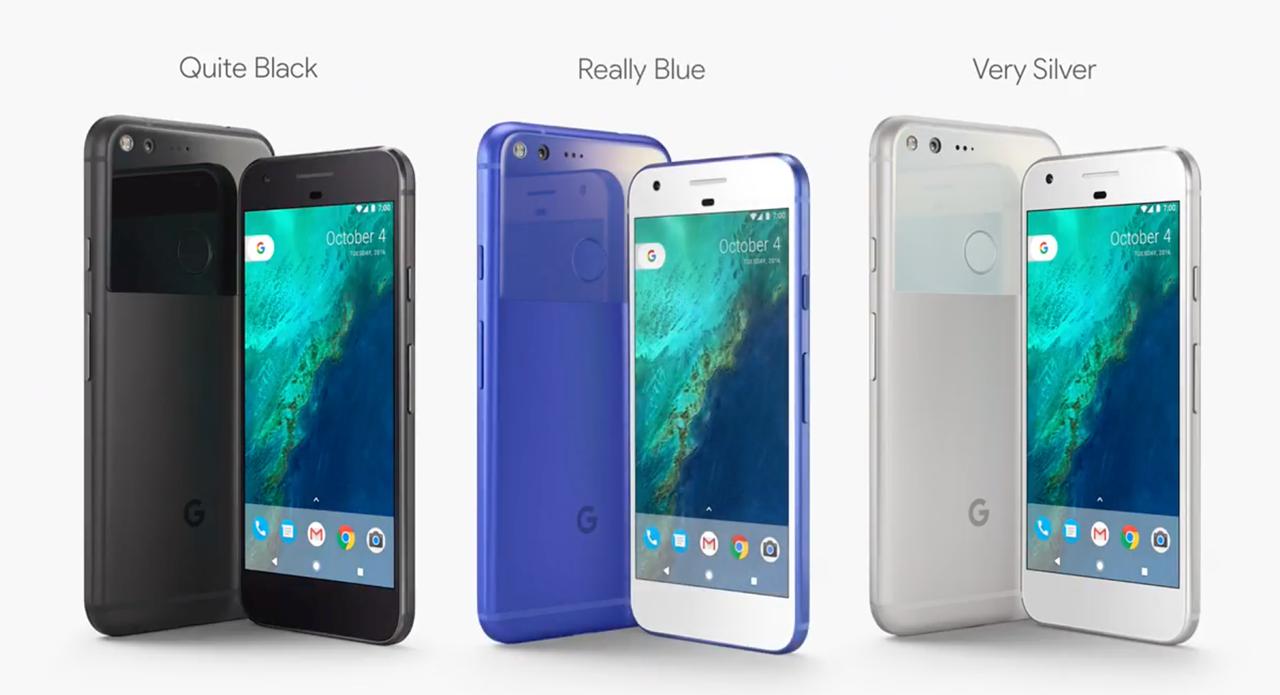 Google Pixel kleuren