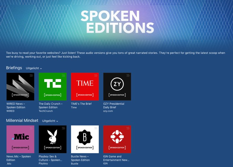 iTunes Spoken Editions in iTunes