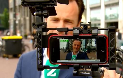 RTL Nieuws met liveverslaggeving via de iPhone.