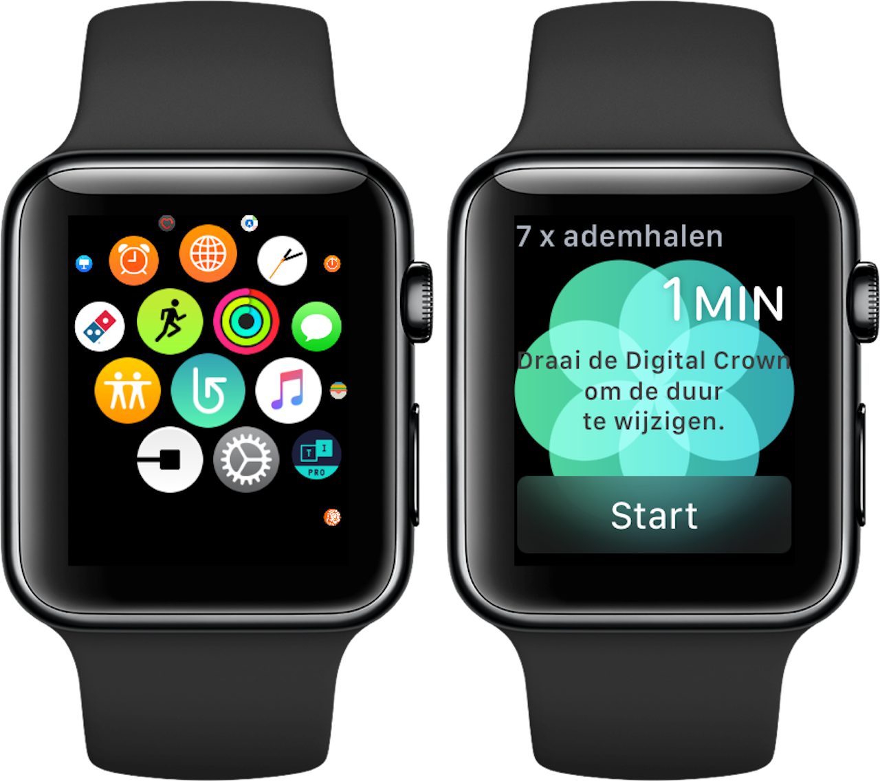 Ademhaling-app Apple Watch 1