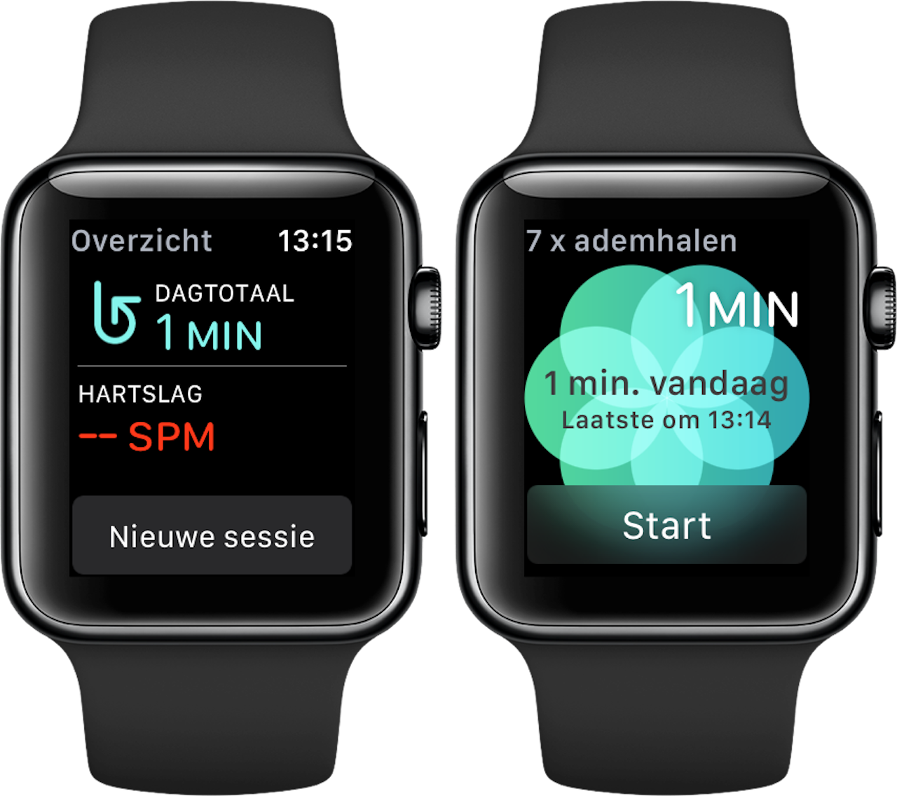 Ademhaling-app Apple Watch 4