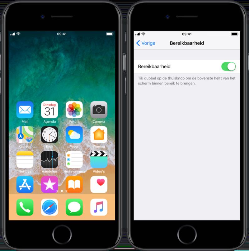 Bereikbaarheid op de iPhone uitschakelen.