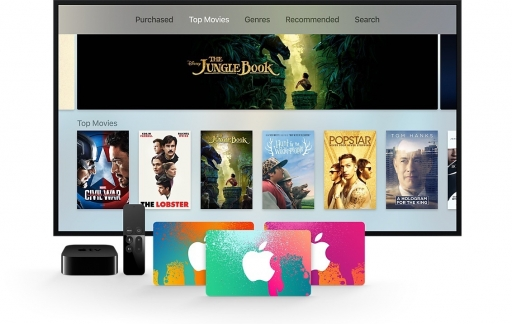iTunes-cadeaubon met Apple TV.