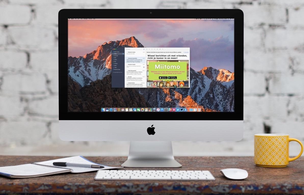 Spark voor de Mac op een iMac.