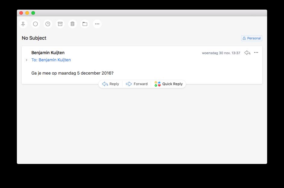 Mail lezen in Spark voor de Mac.